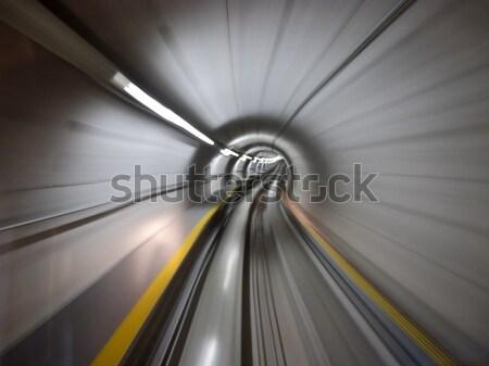 Tünel yeraltı Zürih havaalanı yol şehir Stok fotoğraf © swisshippo