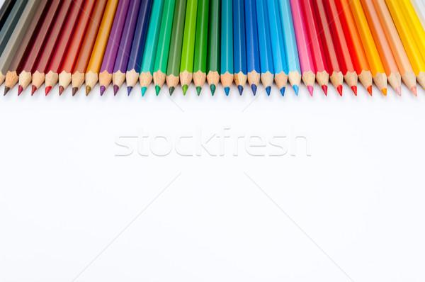 Renk kalemler yalıtılmış beyaz model Stok fotoğraf © szabiphotography