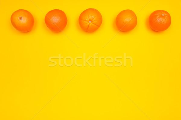 Narancs minta citrus egyezség színes kereszt Stock fotó © szabiphotography
