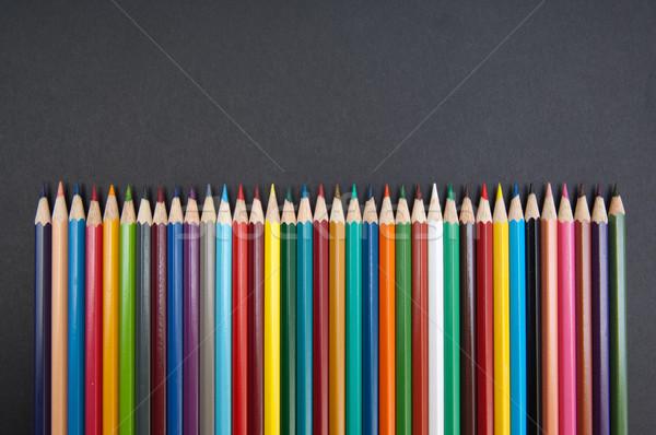ストックフォト: 色 · 鉛筆 · 孤立した · 黒 · パターン