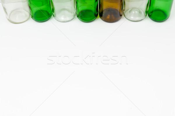 üveg üvegek vegyes színek zöld fehér Stock fotó © szabiphotography