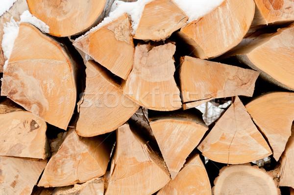 切り 薪 自然 木製 スタック ストックフォト © szabiphotography
