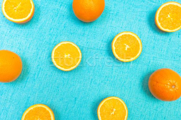 オレンジ レモン かんきつ類の果実 パターン 水色 光 ストックフォト © szabiphotography
