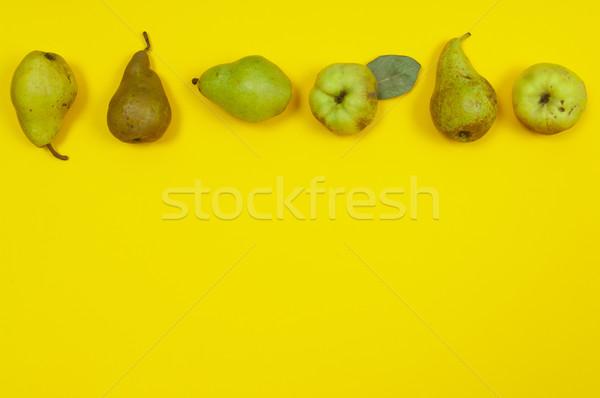 Armut sarı bo ayva gıda Stok fotoğraf © szabiphotography
