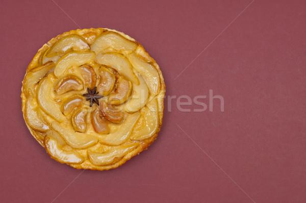 Todo manzana pera tarta aislado pie Foto stock © szabiphotography