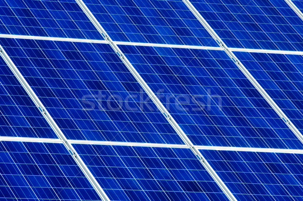 Photovoltaic solar cell panels Stock photo © szabiphotography