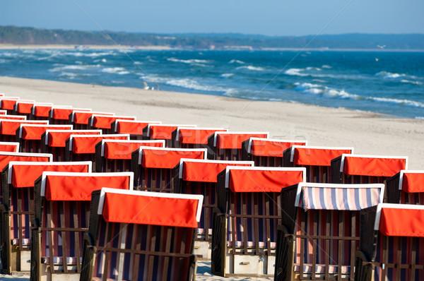 şezlong plaj sahil başvurmak ada Stok fotoğraf © szabiphotography