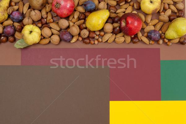 Sonbahar meyve fındık bo organik doğa Stok fotoğraf © szabiphotography