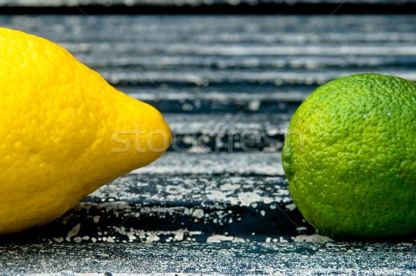 Siyah arka plan limon kireç Stok fotoğraf © szabiphotography