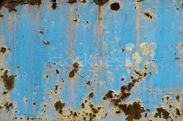 Starych zardzewiałe jasnoniebieski metal streszczenie Zdjęcia stock © szabiphotography