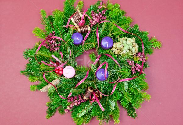 クリスマス 花輪 出現 コピースペース 木製 冬 ストックフォト © szabiphotography