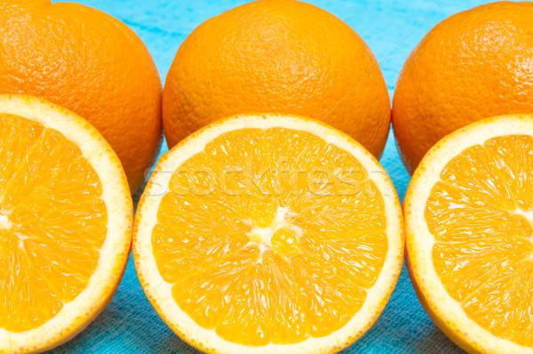 оранжевый лимона цитрусовые шаблон голубой свет Сток-фото © szabiphotography