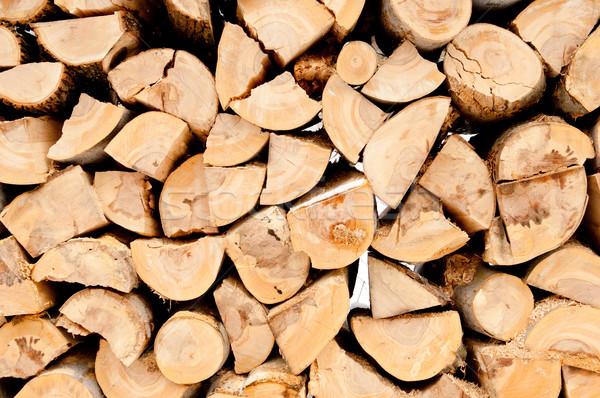 Gehakt brandhout natuurlijke houten Stockfoto © szabiphotography