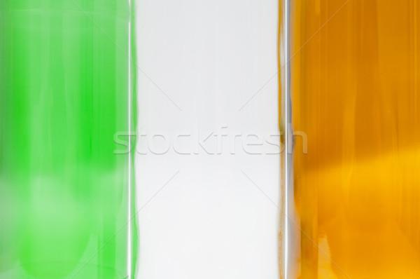 Banderą Irlandia irlandzki pusty butelek Zdjęcia stock © szabiphotography