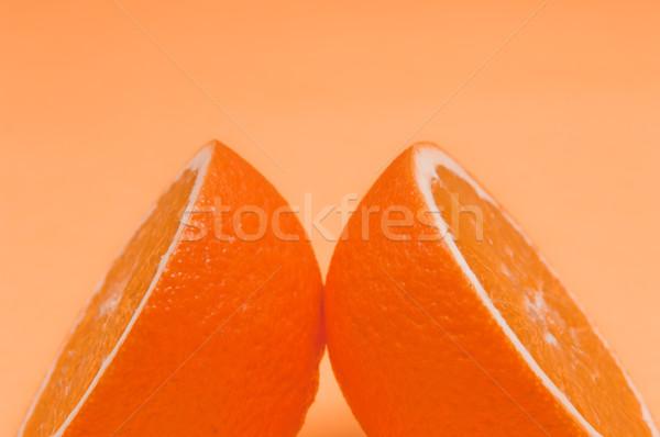 Orange pattern on orange background citrus arrangement Stock photo © szabiphotography