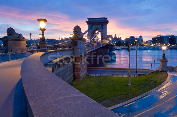 Stock photo: Budapest view with Chain Bridge and the Pest side