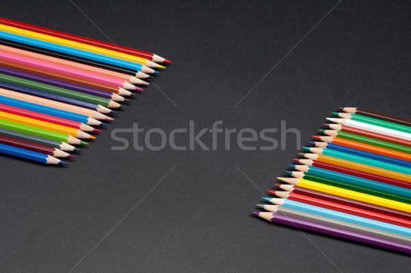 Renk kalemler yalıtılmış siyah model Stok fotoğraf © szabiphotography