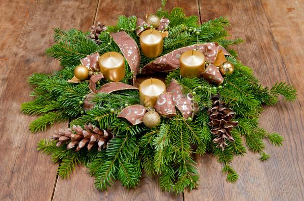 Navidad corona advenimiento espacio de la copia invierno Foto stock © szabiphotography