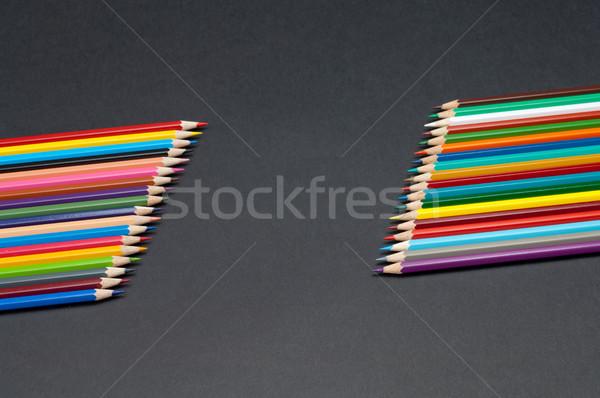цвета карандашей изолированный черный шаблон Сток-фото © szabiphotography