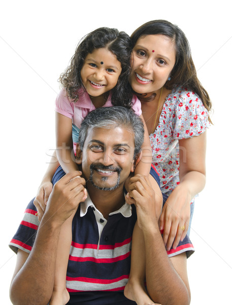 Happy Asian Indian family Stock photo © szefei