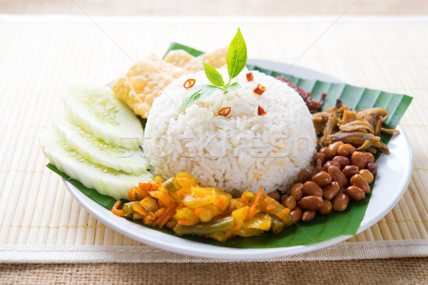 Malay food nasi lemak Stock photo © szefei