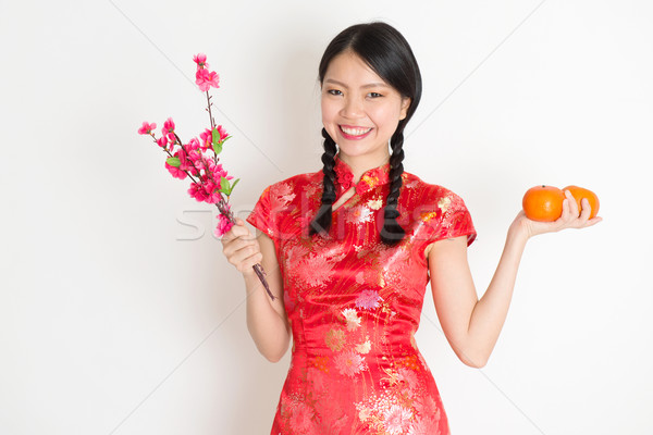 アジア 中国語 少女 タンジェリン オレンジ ストックフォト © szefei
