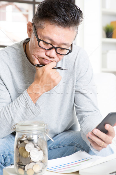 Saving, retirement, retirees financial planning concept. Stock photo © szefei