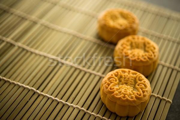 月 ケーキ 竹 コピースペース 伝統的に ストックフォト © szefei