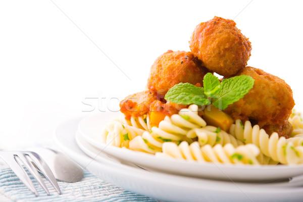 Delicioso listo alimentos fondo verde rojo Foto stock © szefei