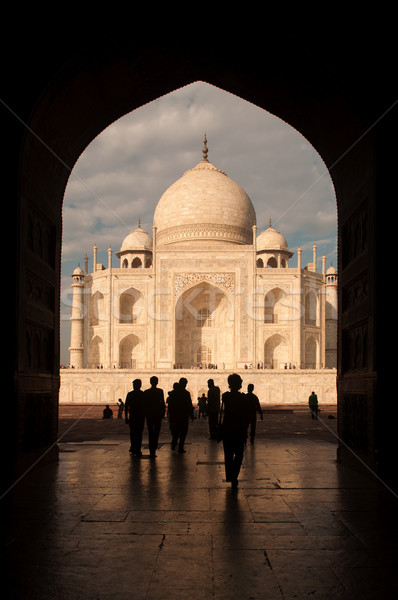 Taj mahal door arch view Stock photo © szefei