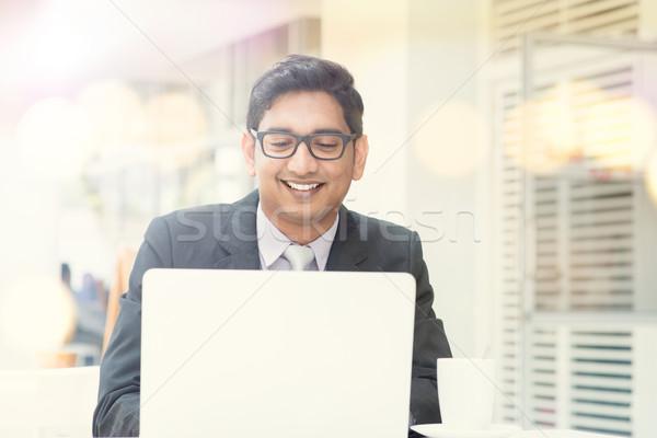 Iş adamı işadamı fincan kahve mutlu Stok fotoğraf © szefei