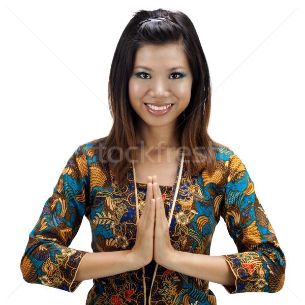 Asian vrouwelijke zuidelijk thai moslim vrouw Stockfoto © szefei