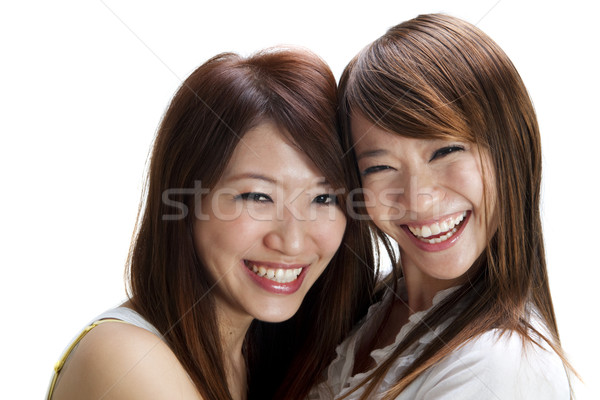 Feliz amigos jovem asiático feminino Foto stock © szefei