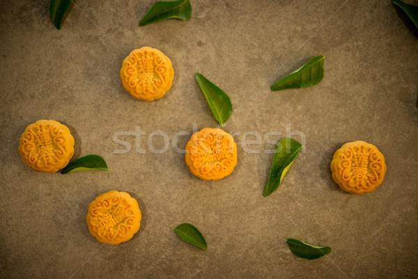 Mooncakes on dark background  Stock photo © szefei