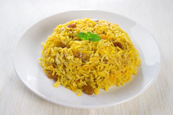 Arabski ryżu ramadan żywności Bliskim Wschodzie tablicy Zdjęcia stock © szefei