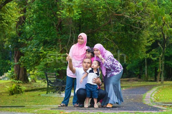 Stock fotó: ázsiai · család · boldog · délkelet · szabadtér · életstílus