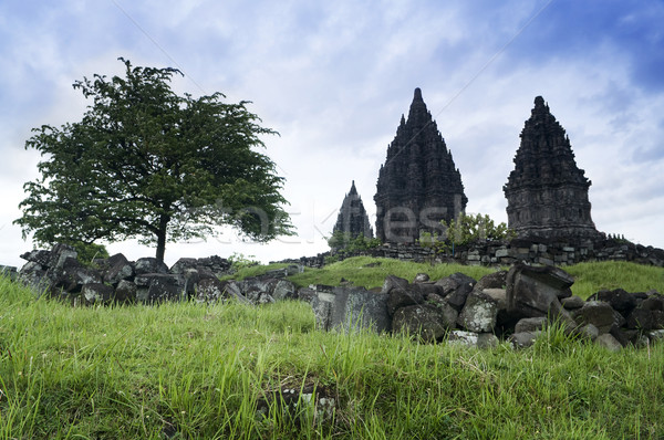 Ruines java Indonesië gebouw bouw reizen Stockfoto © szefei