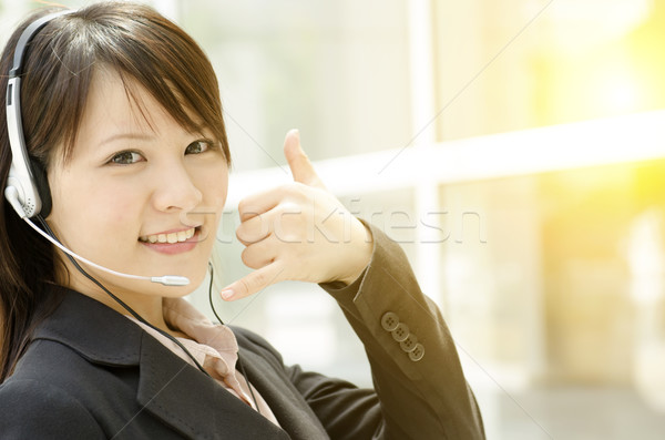 Asian female customer support Stock photo © szefei