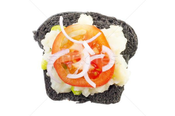 Black charcoal sandwich Stock photo © szefei