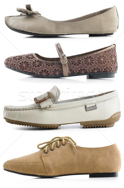 女性 靴 白 色 革 足 ストックフォト © szefei
