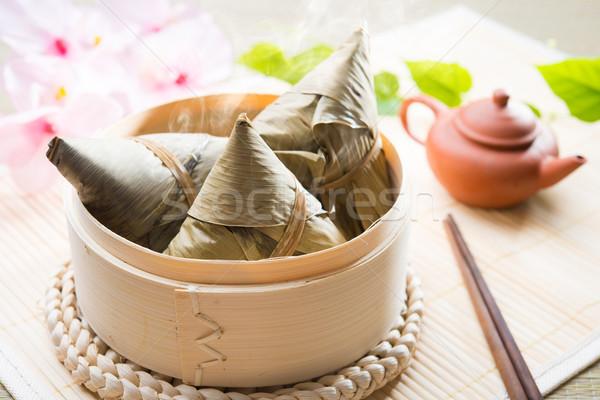 Asian Chinese Rice Dumplings Stock photo © szefei