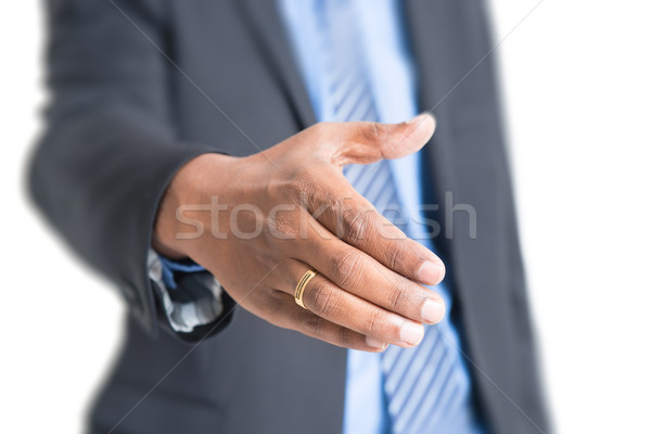 Indian business people hand offering handshake Stock photo © szefei