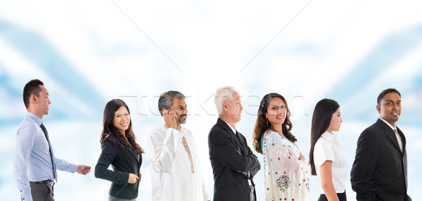 Group of Multiracial Asian people lined up.  Stock photo © szefei