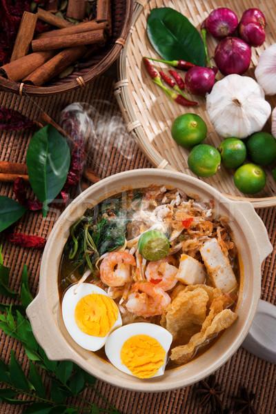 Stock photo: Prawn noodles, prawn mee.