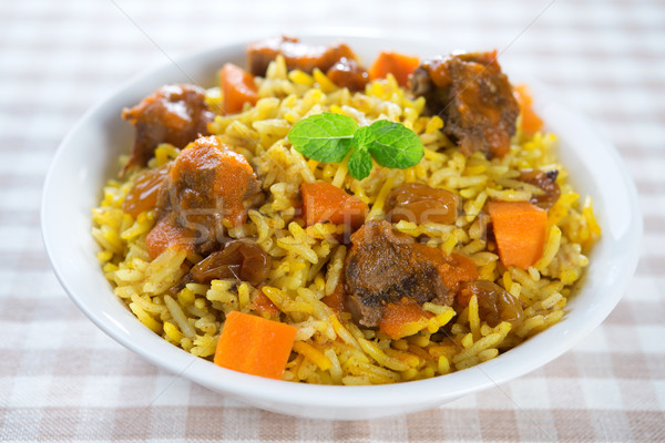 Arabic montone riso arab alimentare Foto d'archivio © szefei