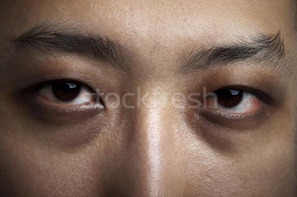 бессонница мужчины глазах поздно ночь Сток-фото © szefei