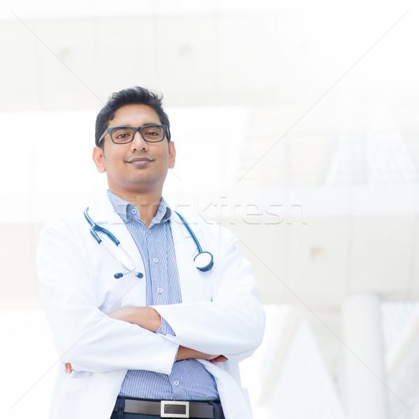Hint erkek tıbbi doktor portre gülen Stok fotoğraf © szefei