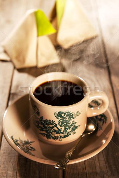Traditional Malaysian kopitiam breakfast Stock photo © szefei