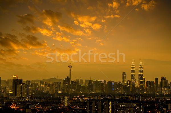 Куала-Лумпур ночь мнение Малайзия закат Сток-фото © szefei