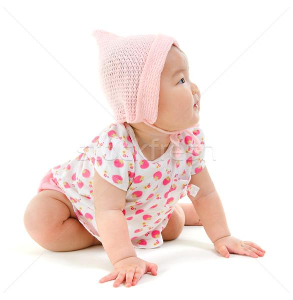 Asian baby girl Stock photo © szefei